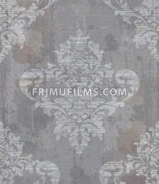 Grunge Damask pattern ornament decor Vector. Baroque fabric texture illustration design - frimufilms.com