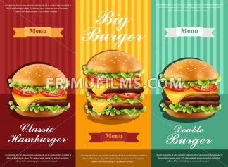 Hamburger retro menu Vector. detailed template lay out product design - frimufilms.com