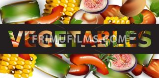 Healthy spring vegetables banner Vector realistic illustration - frimufilms.com