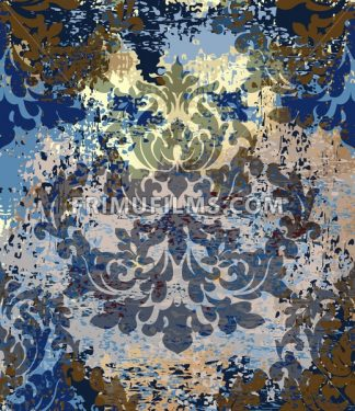Imperial Baroque pattern background Vector. Ornamented texture luxury design. Vintage Royal textile decor - frimufilms.com