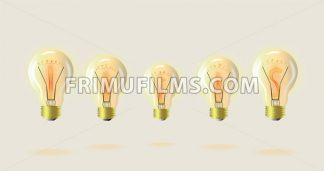 Light bulb Vector detailed illustration. Symbolic idea suggestion - frimufilms.com