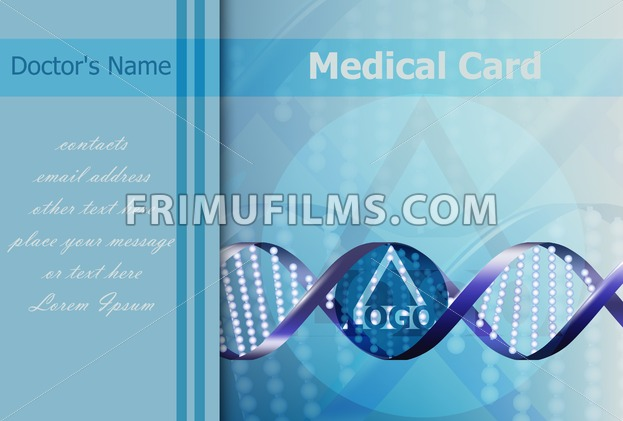 Medical card Vector. DNA abstract formula background. logo design - frimufilms.com