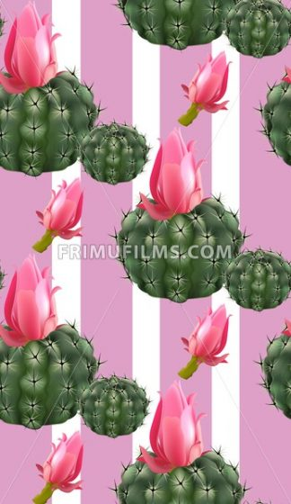 Pink cactus abstract pattern background Vector illustration - frimufilms.com
