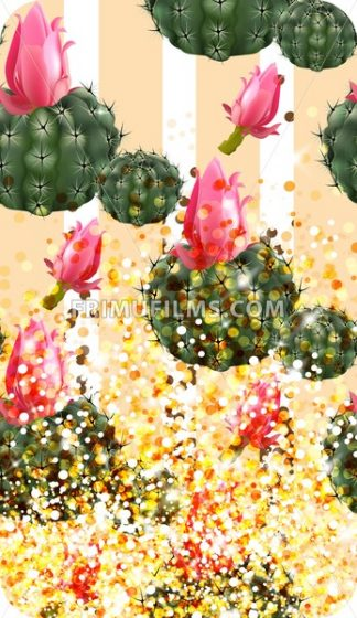 Pink cactus abstract pattern sparkling background Vector illustration - frimufilms.com