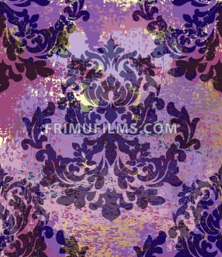 Royal Baroque pattern vintage background Vector. Ornamented texture luxury design. Imperial textile decor - frimufilms.com