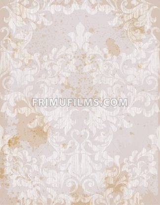 Vector damask pattern element. Classical luxury old fashioned ornament grunge background. Royal Victorian texture for wallpapers, textile, fabric, wrapping. Exquisite floral baroque template - frimufilms.com