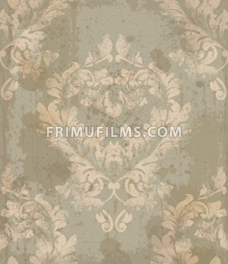 Vector damask pattern element. Classical luxury old fashioned ornament, royal victorian royal texture for wallpapers, textile, wrapping. Exquisite floral baroque template - frimufilms.com
