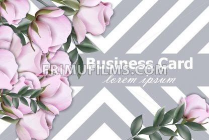 Vintage roses background Vector. Retro geometric stripes texture layout illustration - frimufilms.com