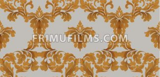 Baroque seamless pattern Vector. Royal texture. Victorian fabric decor golden color - frimufilms.com