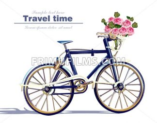 Bicycle travel card Vector realistic. Detailed 3d illustration - frimufilms.com