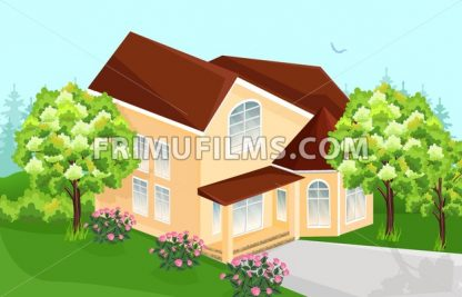 Big house Vector. Real Estate architecture house - frimufilms.com