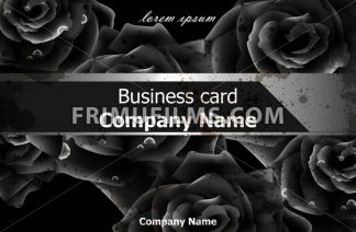 Black roses luxury background Vector. Elegant flowers decor card. Business card template - frimufilms.com