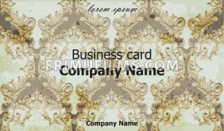 Business card Vector. Classic ornament background vintage decor - frimufilms.com