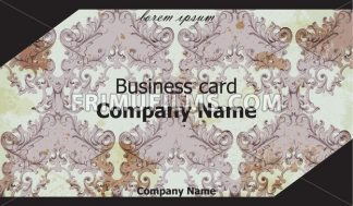 Business card Vector. Classic ornament background vintage decor illustration - frimufilms.com