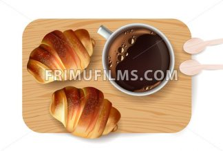Croissant pattern Vector. Sweet dessert breakfast menu - frimufilms.com