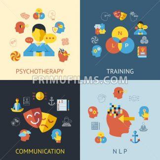 Digital vector neuro linguistic programming icon set - frimufilms.com