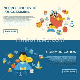 Digital vector neuro linguistic programming icon set infogprahics - frimufilms.com