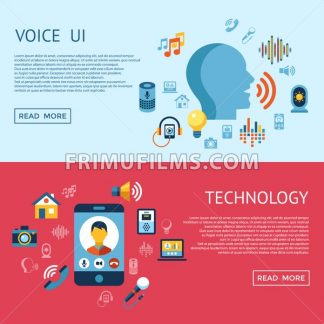 Digital vector voice control user interface and artificial intelligence icon set infographics - frimufilms.com