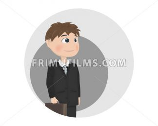 Man avatar Vector. Businessman, teacher or manager profession Vector. cartoon character - frimufilms.com