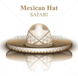 Mexican hat Vector realistic. Detailed 3d illustration - frimufilms.com