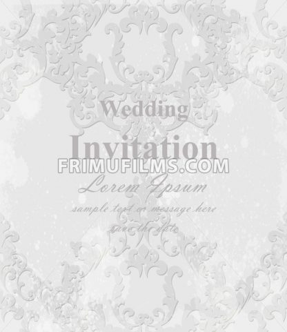 Vintage Baroque invitation card Vector. Royal texture. Victorian rich decor - frimufilms.com