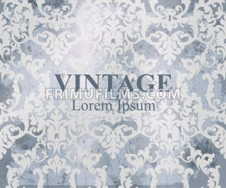 Vintage Baroque pattern Vector. Royal texture. Victorian fabric decor - frimufilms.com