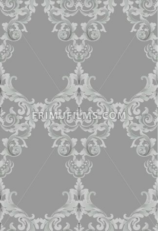 Vintage Baroque seamless texture pattern Vector. Wallpaper ornament decor. Textile, fabric, tiles trendy decor - frimufilms.com