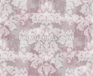 Vintage Baroque seamless texture pattern Vector. Wallpaper ornament decor. Textile, fabric, tiles. Pink powder color - frimufilms.com