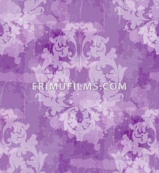 Vintage Baroque seamless texture pattern Vector. Wallpaper ornament decor. Textile, fabric, tiles. Violet color - frimufilms.com