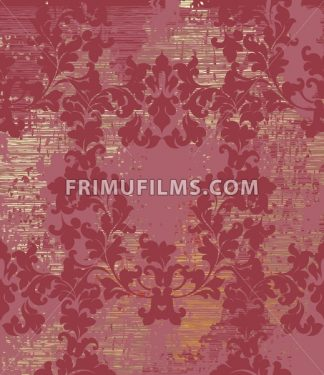 Vintage Baroque texture pattern Vector. Wallpaper ornament decor. Textile, fabric, tiles. Red wine color - frimufilms.com