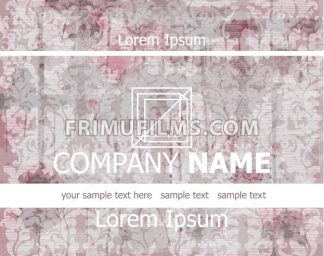 Vintage Business card old paper background Vector illustration - frimufilms.com