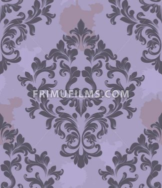 Vintage Damask Seamless pattern Vector. Luxury ornament elegant structure retro theme decor - frimufilms.com