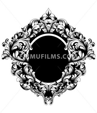 Vintage Frame Vector. Classic rich ornamented carved decors. Baroque sophisticated design - frimufilms.com