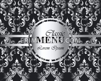 Vintage background baroque ornament Vector. Royal Luxury trendy wallpaper design. Texture, textile, decor, fabric, tile, template decor - frimufilms.com