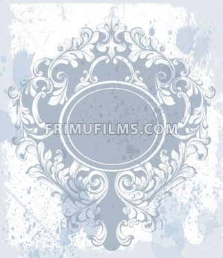 Vintage baroque ornament Vector. Classic old carved frame decors. Baroque sophisticated design - frimufilms.com