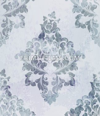 Vintage old paper texture Vector. Luxury baroque pattern wallpaper ornament decor. Textile, fabric, tiles. Gray color - frimufilms.com