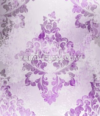 Vintage old paper texture Vector. Luxury baroque pattern wallpaper ornament decor. Textile, fabric, tiles. purple color - frimufilms.com
