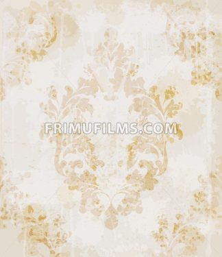 Vintage pattern vector. Classic ornament elegant structure retro theme decor - frimufilms.com