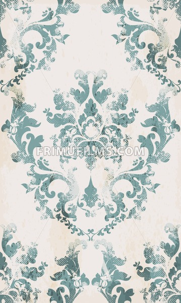 Vintage seamless ornament pattern Vector. Baroque classic background. Royal victorian texture. Old painted style decor design - frimufilms.com