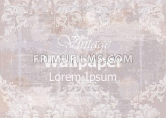Vintage wallpaper Vector. Classic ornament elegant structure. Grunge background retro theme decor - frimufilms.com