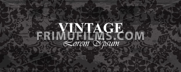 Vintage wallpaper Vector. Royal ornament. Elegant pattern texture. Old stained effect - frimufilms.com