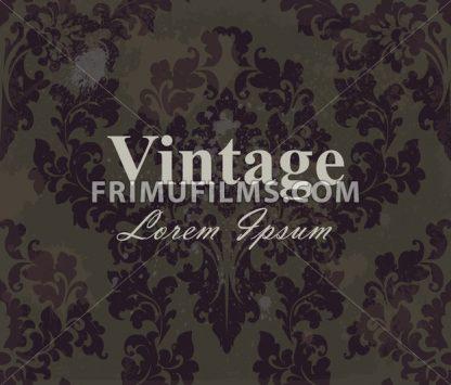 Vintage wallpaper Vector. Royal ornament. Elegant pattern texture. Old stained effect - frimufilms.com