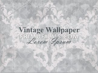 Vintage wallpaper vector. Classic ornament elegant structure vintage theme decor - frimufilms.com