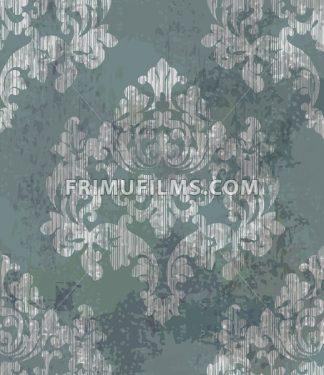 Vintage watercolor classic ornament pattern Vector. Baroque classic background. Old painted style decor design - frimufilms.com