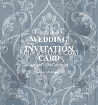 Vintage wedding background baroque ornament Vector. Royal Luxury trendy wallpaper design. Texture, textile, decor, fabric, tile, template - frimufilms.com