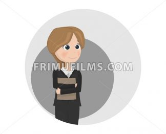 Woman avatar teacher or manager profession Vector. cartoon character - frimufilms.com