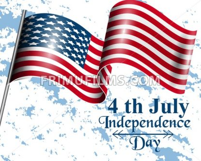 American flag Happy Independence day Vector. 4th of july old postcard - frimufilms.com