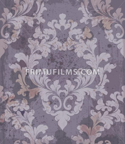 Baroque purple background Vector illustration decor. Royal texture victorian ornament - frimufilms.com
