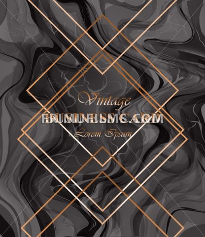 Business card background dark color Vector. Golden frames over classic baroque ornament pattern. Luxury design decor - frimufilms.com