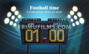 Electronic board for football game score Vector illustration - frimufilms.com